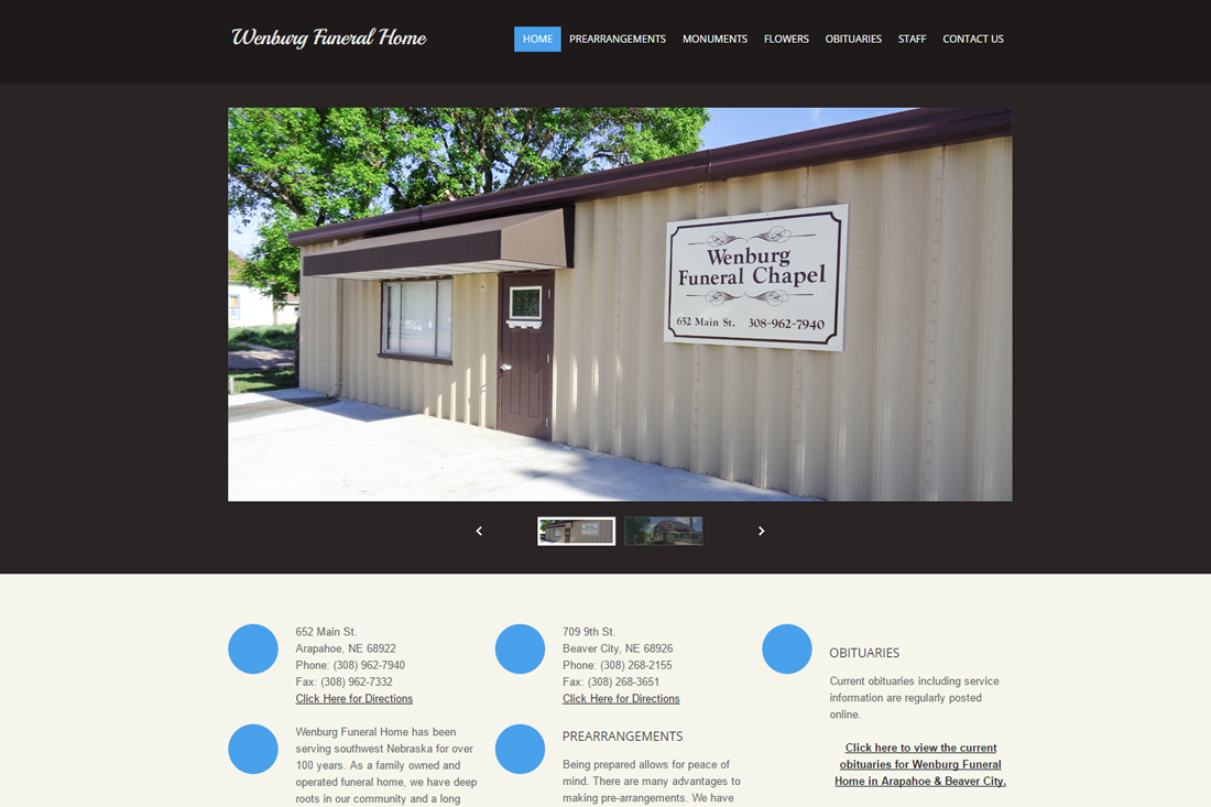 Funeral Services Website Template 30293 - Funeral Home Website ...